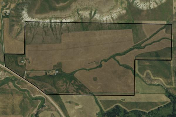 Map of Nason Creek Ranch: 260 acres SE of Belt