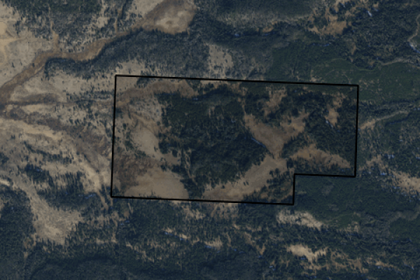 Map of North Camp Creek Road: 300 acres South of Butte