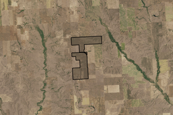 Map of Northeast Montana Farm: 1665 acres North of Wolf Point