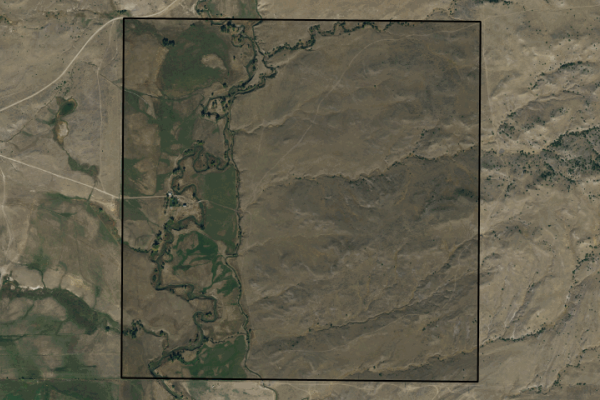 Map of Otter Creek Ranch: 640 acres North of Big Timber