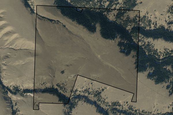 Map of Perkins Creek Ranch: 514.47 acres NE of Anaconda