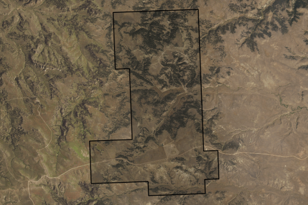 Map of Pine Butte Elk Reserve: 3160 acres South of Birney