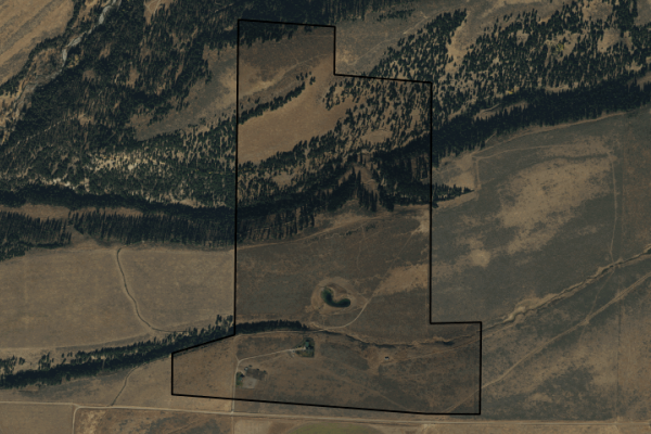 Map of Pishkun Crazy Mountain Ranch: 335 acres East of Clyde Park