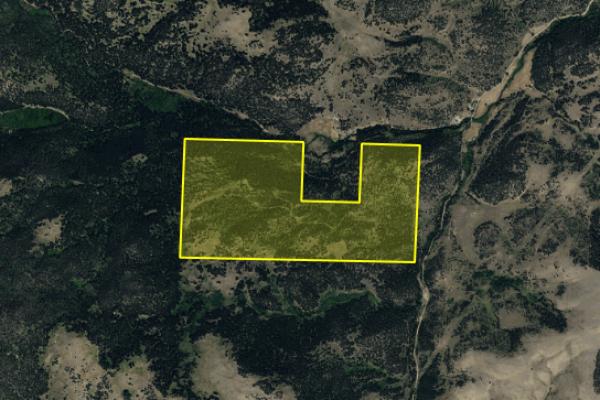 Map of Quartz Creek: 280 acres South of Helena