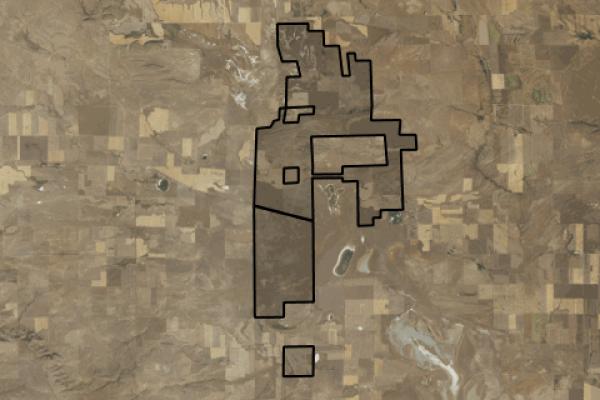 Map of Rapelje Bison Ranch: 15949 acres East of Rapelji