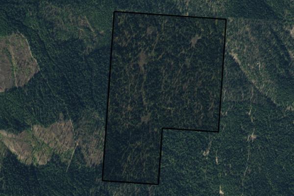 Map of Roberts Creek Road: 240 acres South of Eureka