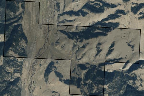 Map of Rock Creek Cattle Ranch: 2770 acres SW of Philipsburg