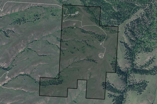 Map of Rockin JN Ranch: 545 acres NE of Sula