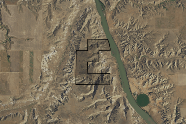 Map of S24/S25 Upper Missouri River: 317 acres NE of Fort Benton