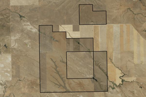 Map of Shay Farm: 2920 acres NW of Winnett