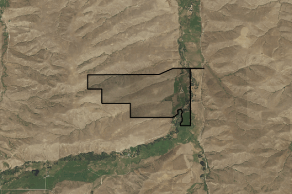 Map of Silver Spur Ranch Auction: 738 acres NW of Red Lodge