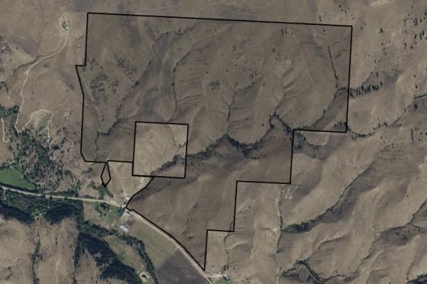 Map of Skalkaho Hwy: 550 acres SE of Hamilton