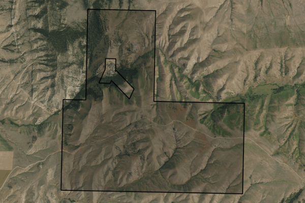 Map of Sportsman's Paradise: 1712 acres SE of Townsend
