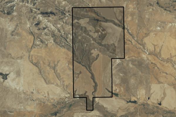 Map of The Breaks Ranch: 1020 acres North of Winnett