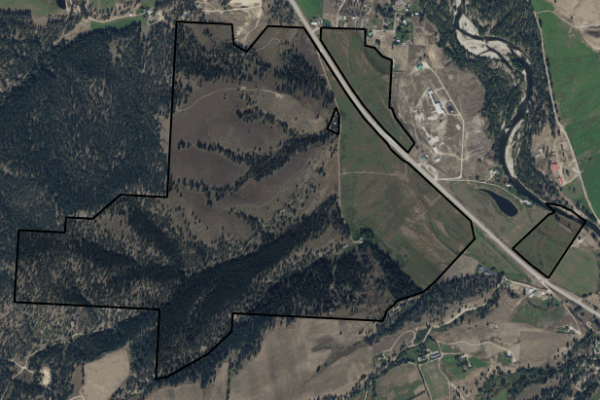 Map of Trapper View Ranch: 689 acres South of Darby