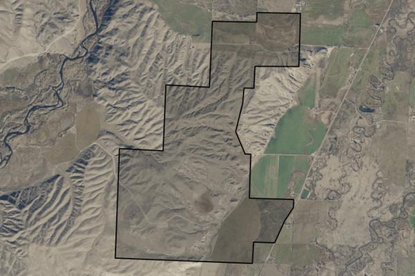 Map of Twin Bridges Ranch: 2190.6 acres SW of Twin Bridges