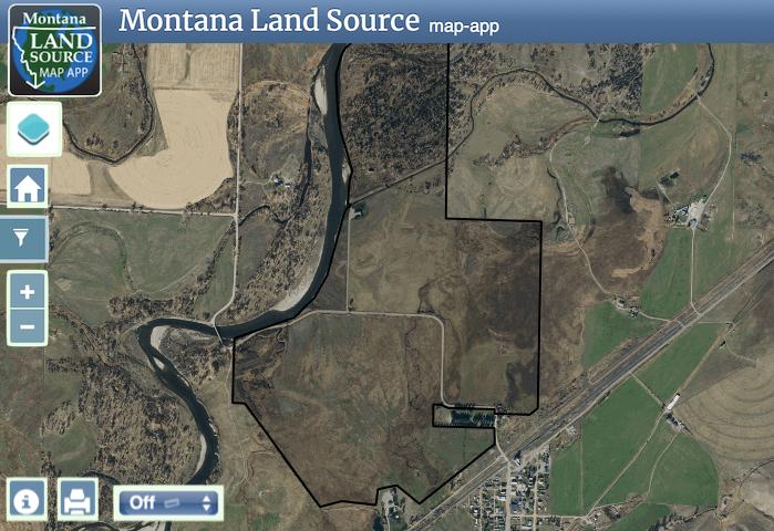 Jefferson River Ranch map image