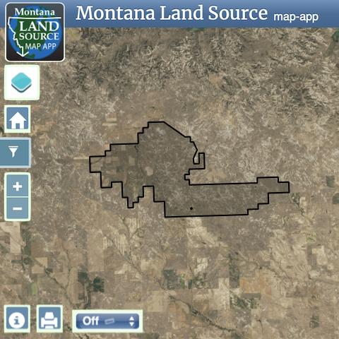 Montana T-Rex Ranch map image