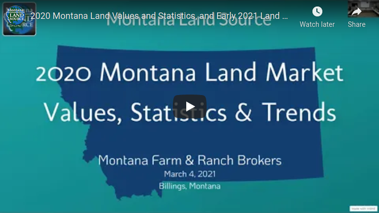 2020 Montana Land Market Values presentation